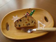 ブログ「へっぱく in裏庭」-パウンドケーキ